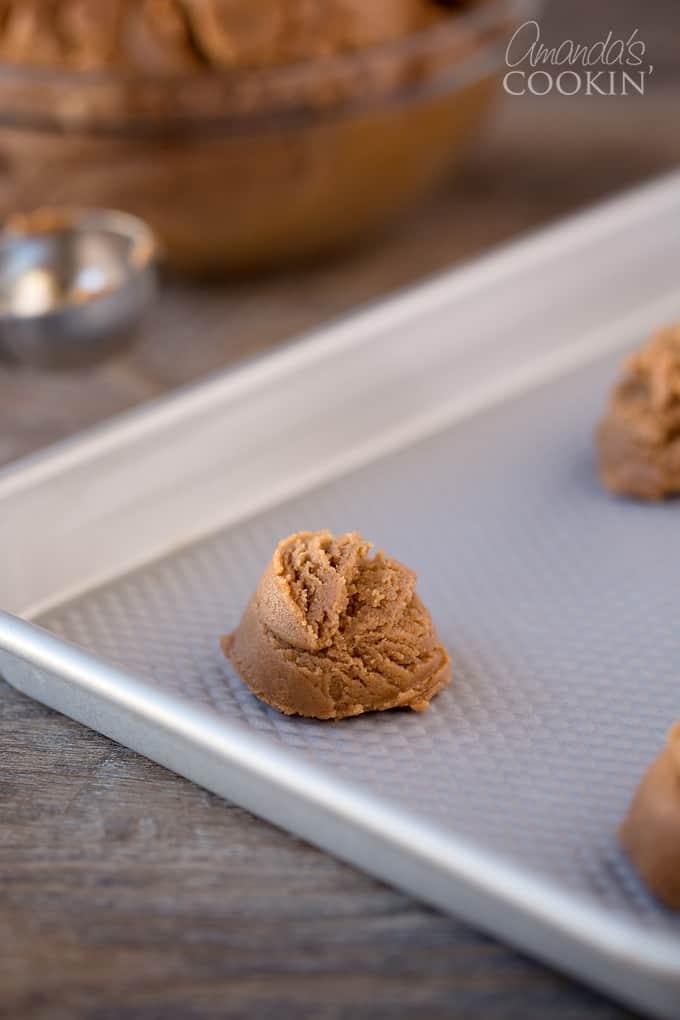 Nutella Peanut Butter Cookies step 1