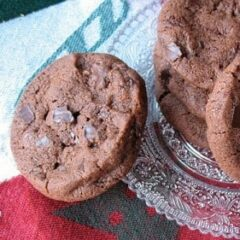 A close up photo of world peace cookies.