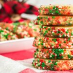 stack of decorated cookies