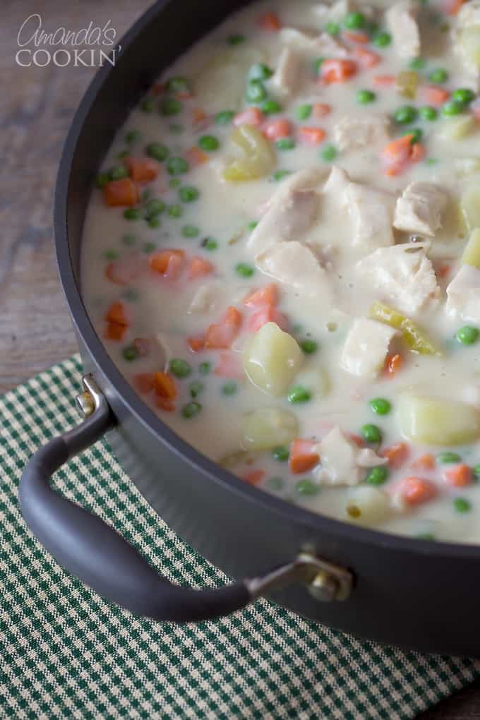 Homemade pot pie - a delicious gravy cooked to perfection