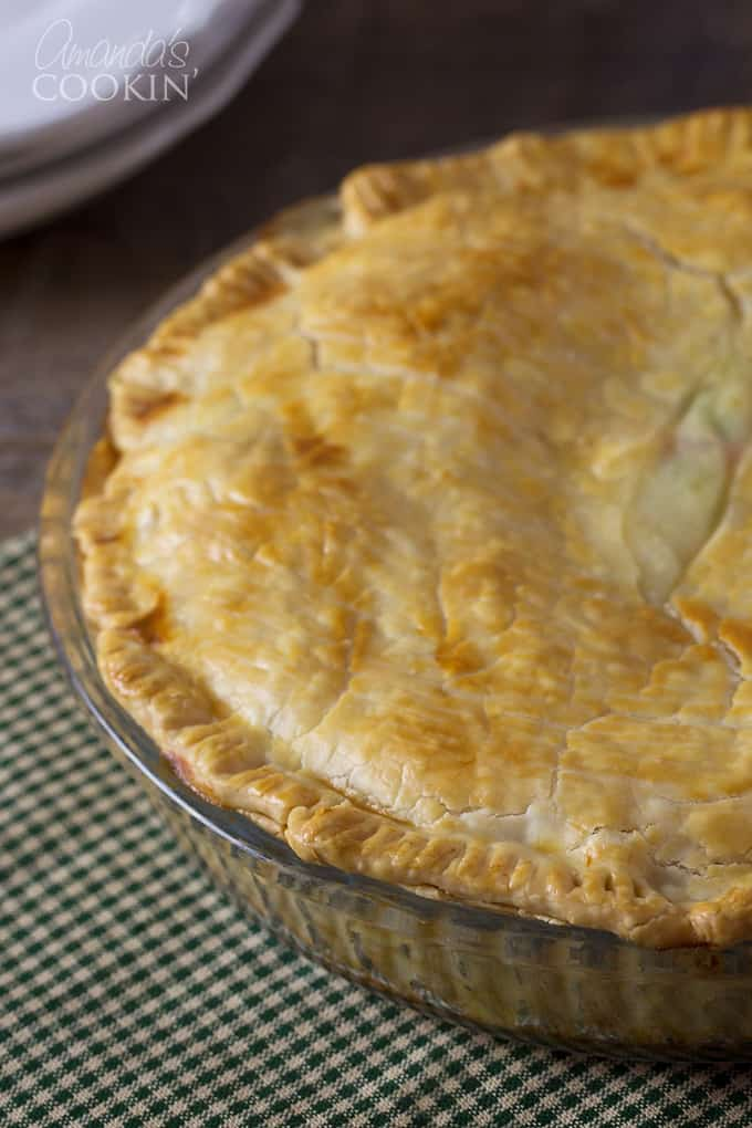 Homemade pot pie - with a perfectly golden crust!