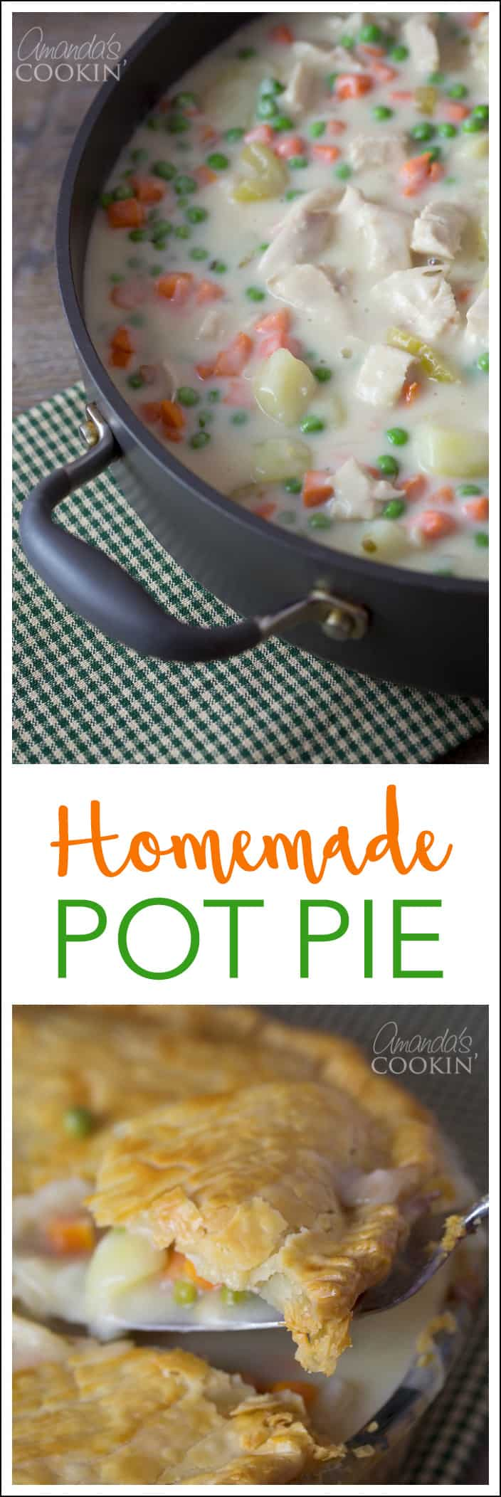 Delicious Homemade Pot Pie: Chicken or Turkey, perfect for leftovers