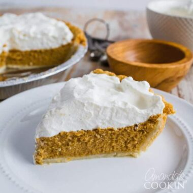 What makes a perfect pumpkin pie? The kind of pumpkin pie that a pumpkin-pie-hater will actually like! This delicious pie should grace your table this year!