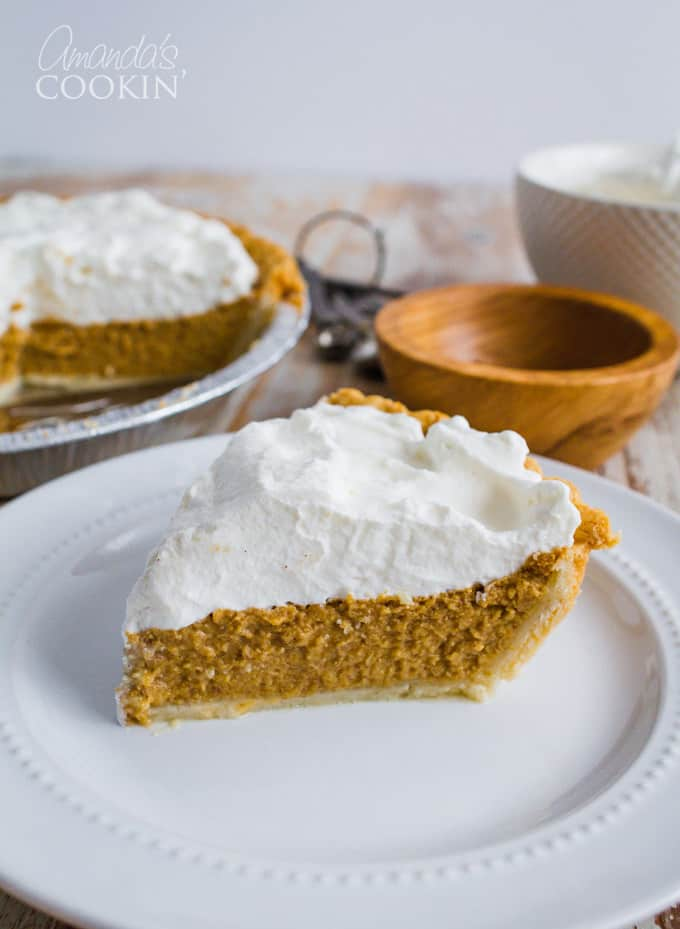 Perfect pumpkin pie slice