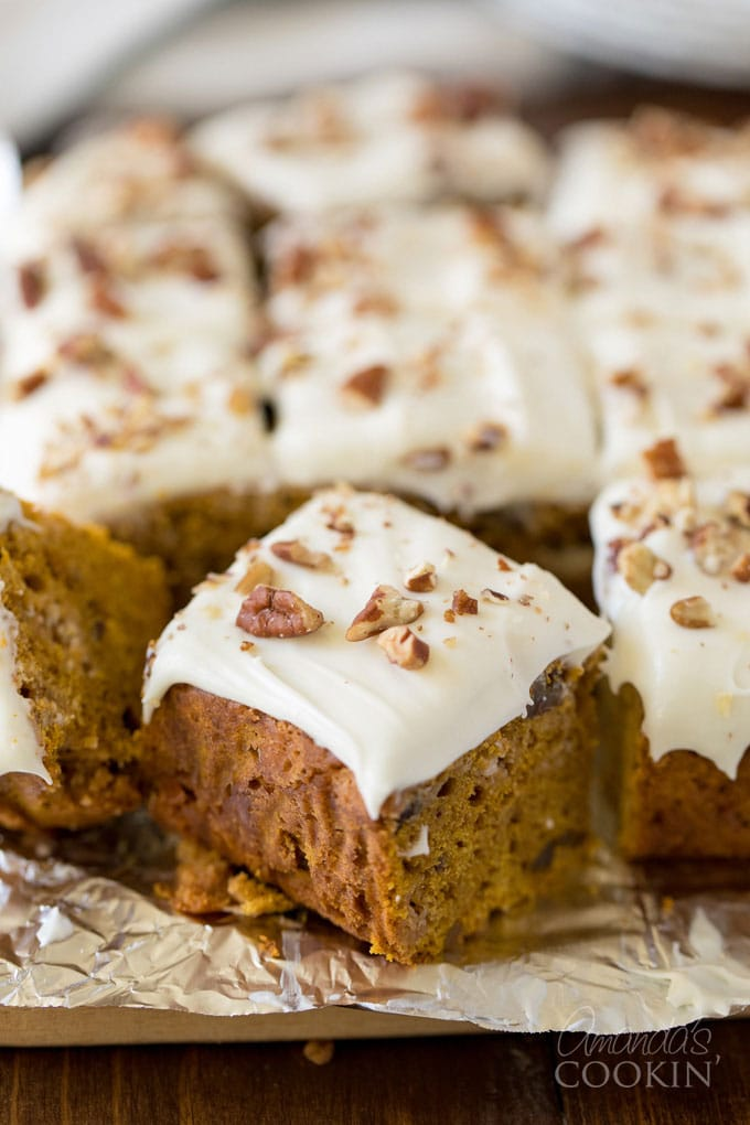 Pumpkin Cake With White Chocolate Cream Cheese Frosting