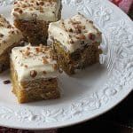 White Chocolate Pumpkin Blondies