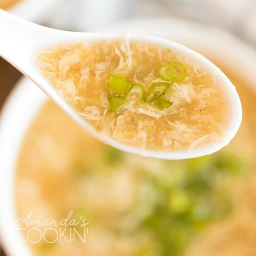 spoon of egg drop soup