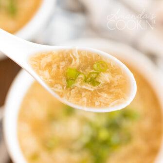 spoon of egg drop soup