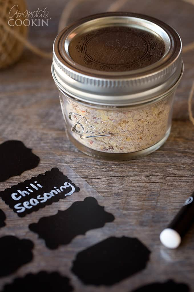 Homemade chili seasoning makes a great gift