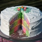 Checkerboard Cake for Easter