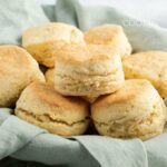 basket of homemade biscuits