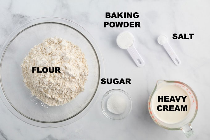 ingredients for homemade biscuits