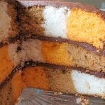 Checkerboard Cake using a cake mix