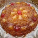 Pineapple Upside Down Cake in a Cast Iron Skillet