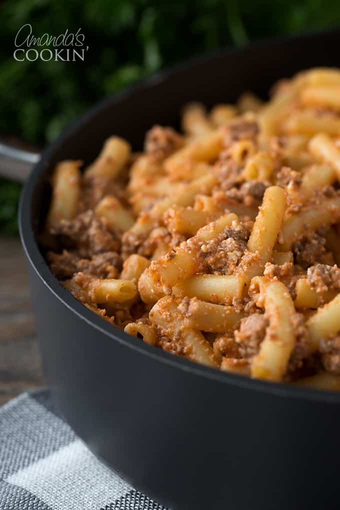 This baked ziti hits home. It's a delicious casserole full of cheese and pasta, and if you ask me, that's one awesome dinner dish.