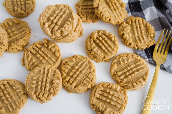 Deliciously soft peanut butter cookies are a family favorite around here!