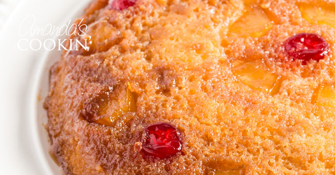 Pineapple Upside Down Cake in a Cast Iron Skillet - Amanda's