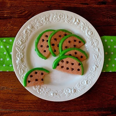 Watermelon Cookies - AmandasCookin.com