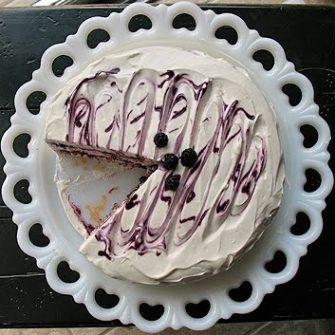 Vanilla Bean Mulberry Cake