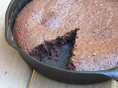 Brownies in a Cast iron Skillet - AmandasCookin.com