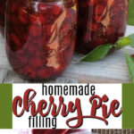 homemade cherry pie filling pin image