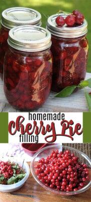 homemade cherry pie filling pin image