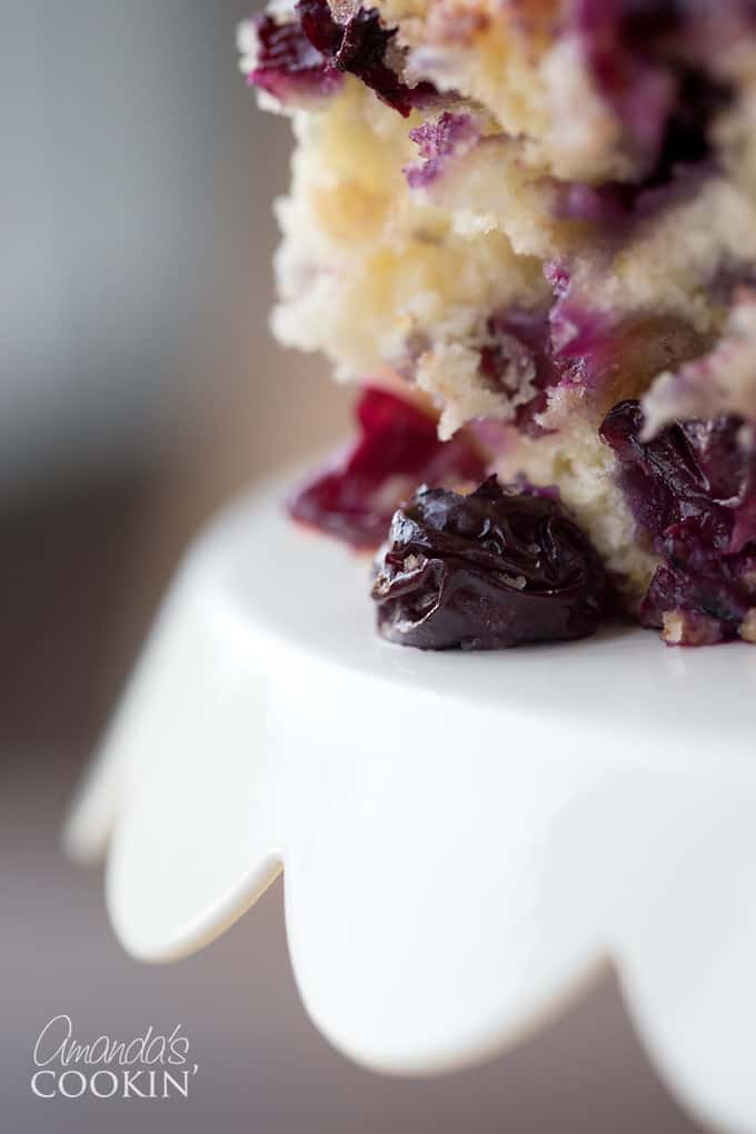Dripping in blueberry deliciousness!