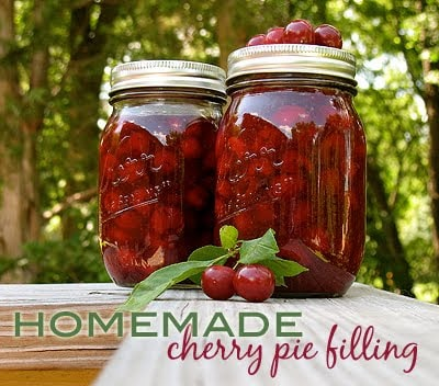 How to make homemade cherry pie filling