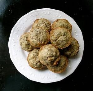 Vanilla Zucchini Muffins - AmandasCookin.com