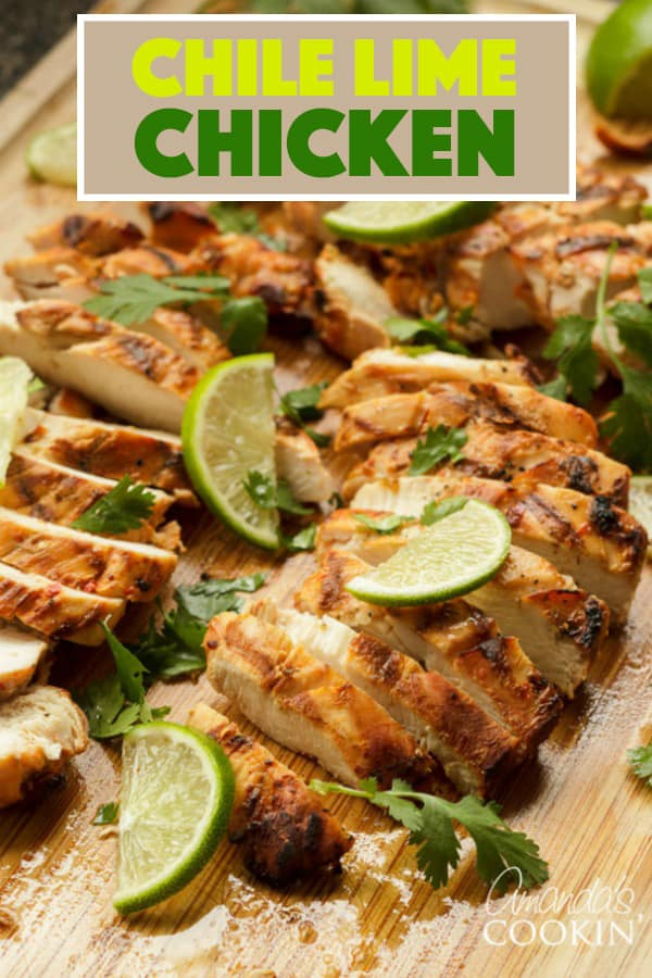 This Chile lime Chicken marinade uses red chiles, jalapeno pepper and garlic, however you control the spice level! Enjoy this delicious chicken on the grill or use your stovetop grill pan.