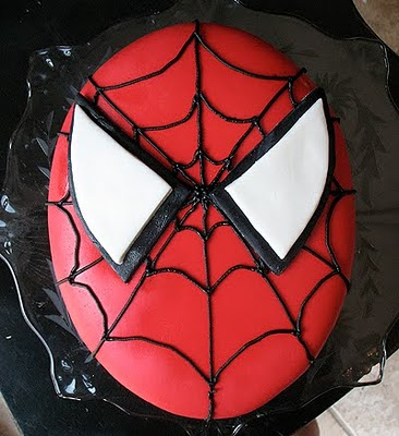 Spiderman Cake and Homemade Marshmallow Fondant - Amanda s ...