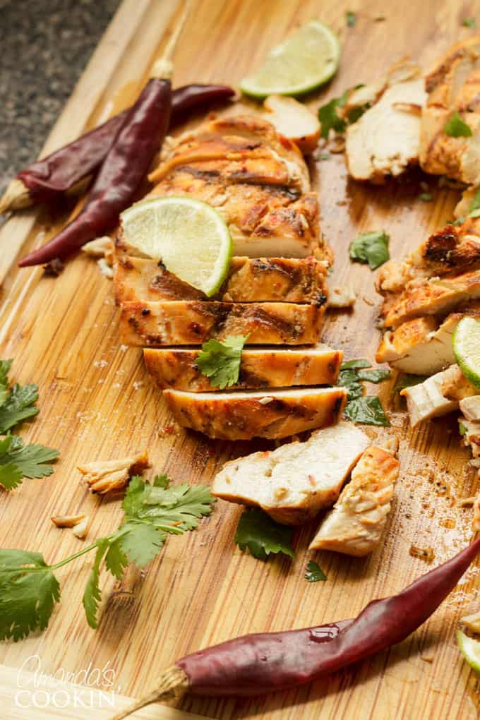 Make tender and delicious chile lime chicken on the grill