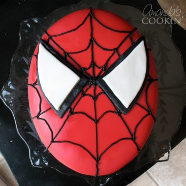 We love this Spiderman Cake made with homemade fondant!