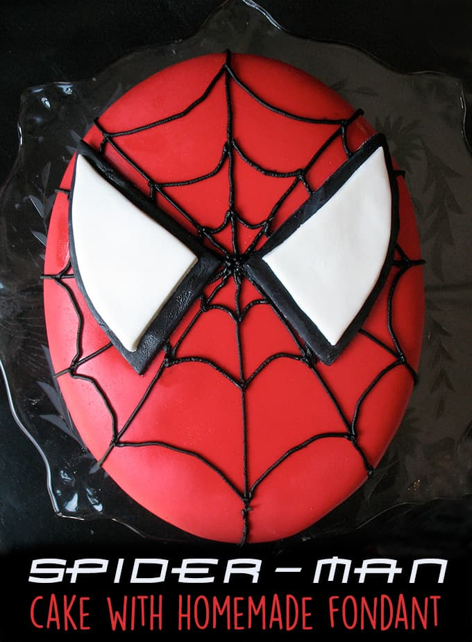 How to make a Spider-Man cake with homemade fondant