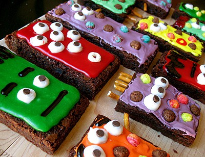 cute monster brownies