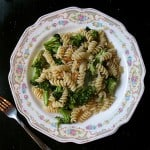 Pasta with Garlic Roasted Broccoli