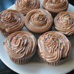 Mexican Chocolate Sour Cream Cupcakes