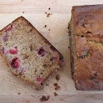 Cranberry Banana Bread with White Chocolate Chunks