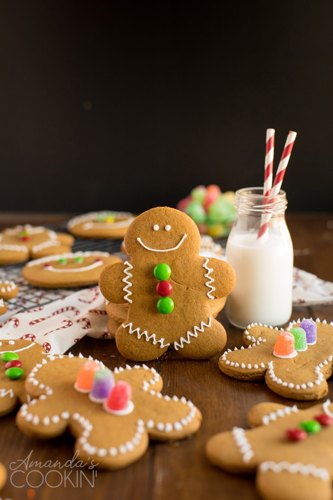 gingerbread man cookie and bottle of milk