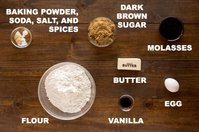 ingredients for gingerbread cookies