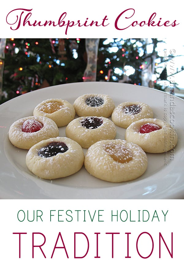 Thumbprint Cookies - easiest recipe ever! From Amanda's Cookin'