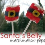 Santa's Belly Marshmallow Pops
