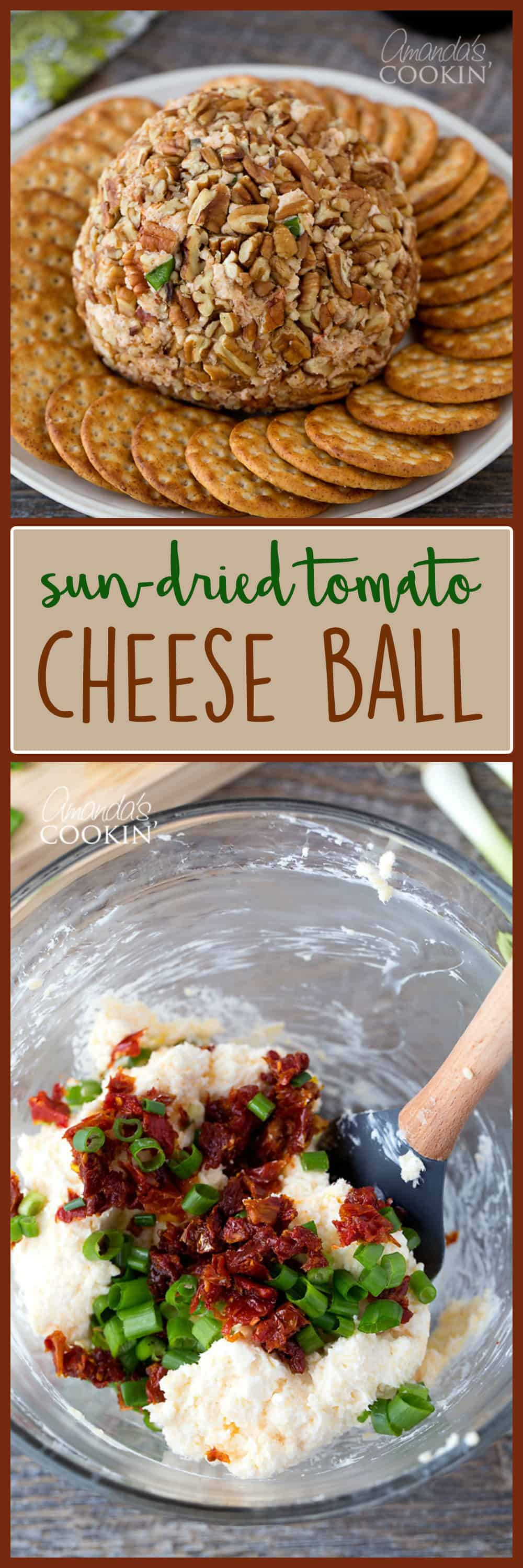 This cheese ball is packed with smoked Gouda flavor and wonderful sun-dried tomatoes! Get ready for a mouth-watering appetizer everyone will love.