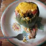 Chili and Cornbread Stuffed Peppers