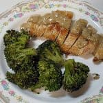 Chicken Diable and Garlicky Panko Coated Broccoli
