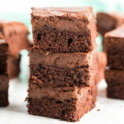 stacked brownie cheesecake