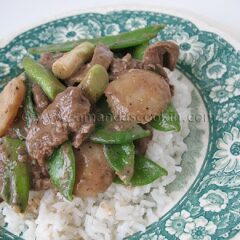 Black Pepper Beef in Peanut Sauce
