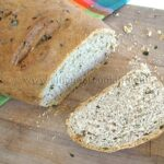 Scallion Chive Bread with Garlic and Rosemary