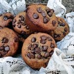 Spiced Banana Chocolate Chip Muffins