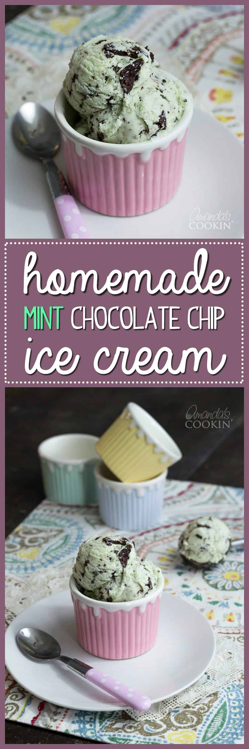 This ultra delicious homemade mint chocolate chip ice cream truly is oh so dreamy! Indulge with this smooth and creamy homemade ice cream recipe tonight!